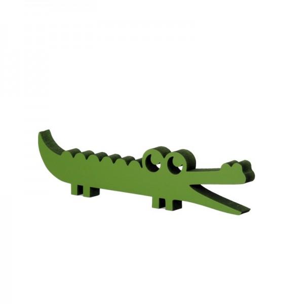 "Nogallery - Holzdeko ""Krokodil groß"" - Waldgrün"