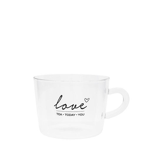 "Bastion Collections - Teeglas ""love - tea•today•you"""