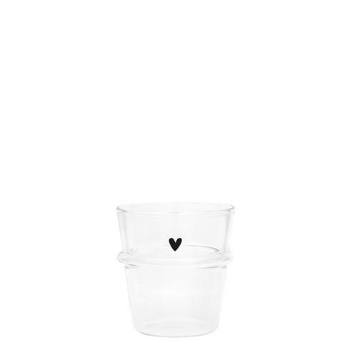 "Bastion Collections - Espresso Glas ""Heart"""