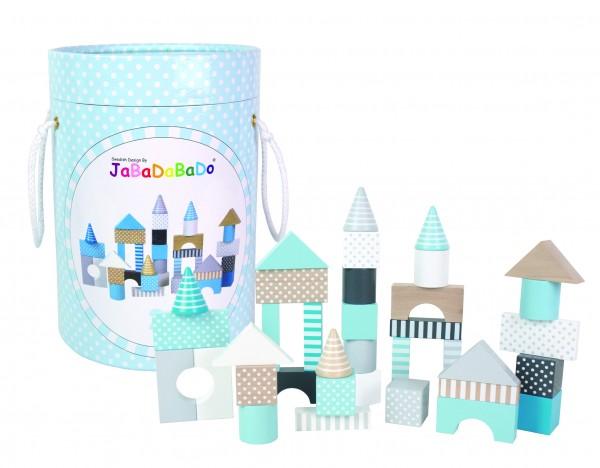 JaBaDaBaDo - Bauklötze CASTLE BUILDING 50-teilig in blau