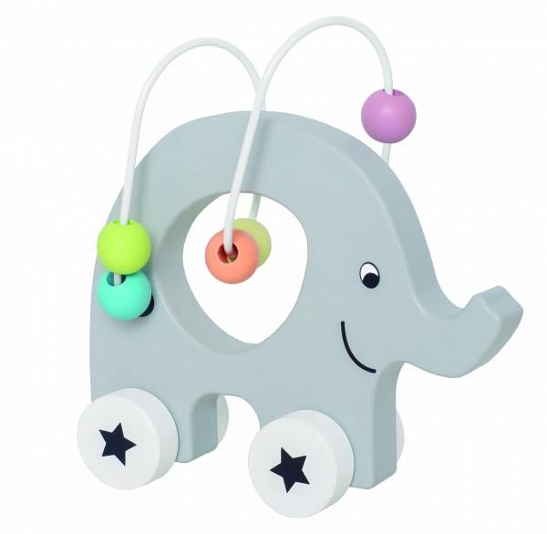 JaBaDaBaDo - Nachziehtier Elephant mit Abakus in Pastellfarben