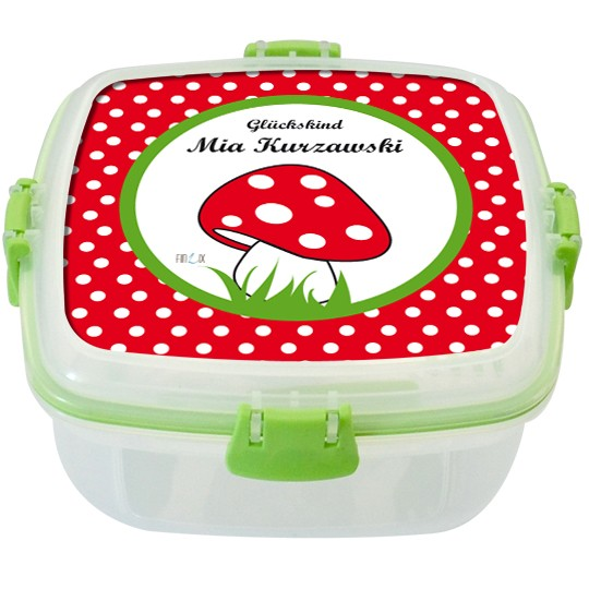 Lunchbox Glückspilz Punkte Rot