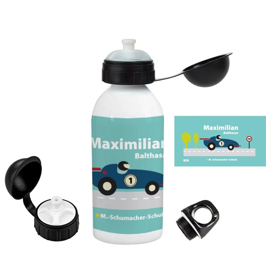 """Trinkflasche """"Formel 1"""" - personalisierbar"""