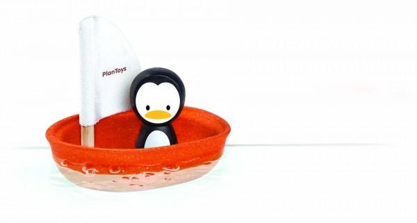 PlanToys - Badespielzeug Segelboot Pinguin