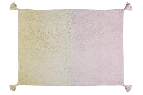 Teppich waschbar Vanille/ Soft Pink