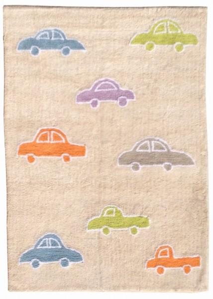 Kinderzimmerteppich mit Autos Multicolor