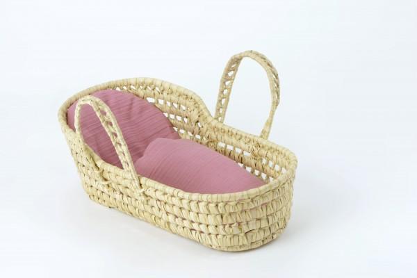 kikadu - Bettwäsche rosa für Puppentragetasche