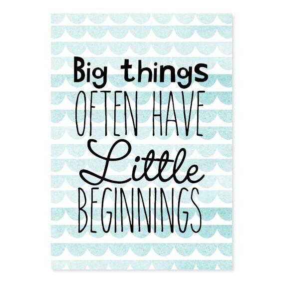 "Little Dutch - Miniposter & Karte ""Big things"""