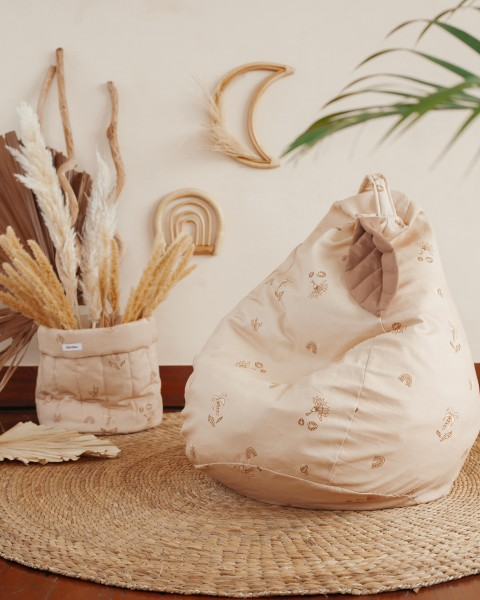 "WigiWama - Sitzsack - Leaf-Collection ""Powder Beige"""