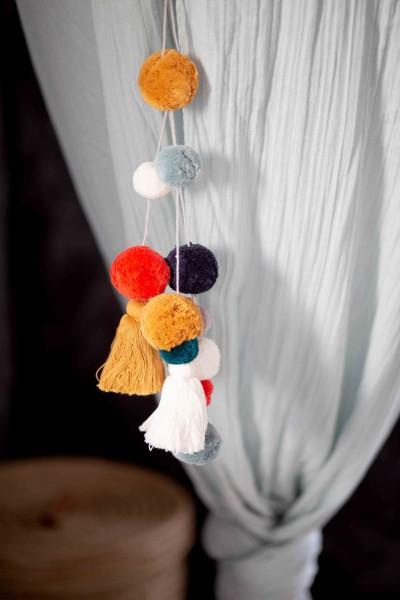 kikadu - Pompom und Tassel Anhänger