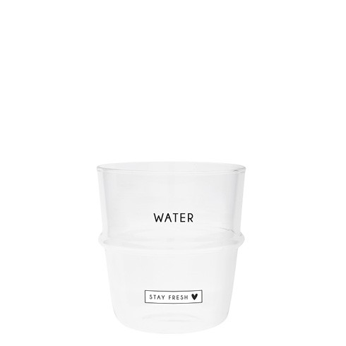 """Bastion Collections - Trinkglas """"WATER - stay fresh"""""""