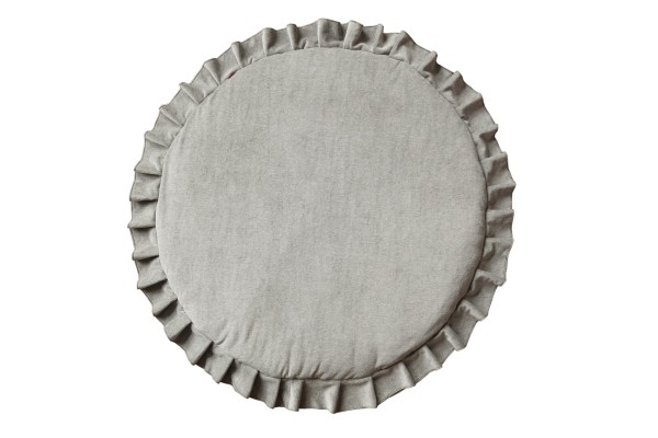 WigiWama - Spielmatte rund - Velvet Collection - Grau