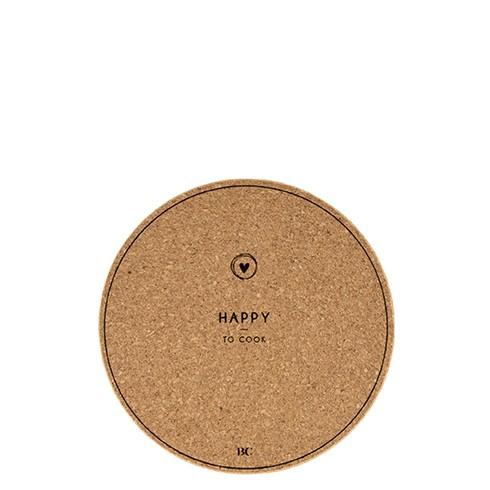 "Bastion Collections - Untersetzer Kork ""HAPPY"" - 18 cm"
