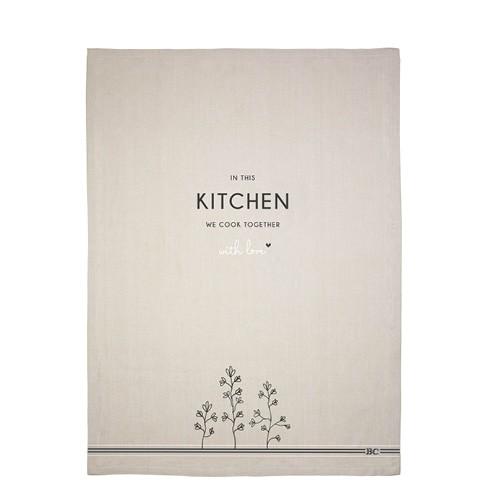 """Bastion Collections - Geschirrtuch """"In this kitchen"""" - 50 x 70 cm"""