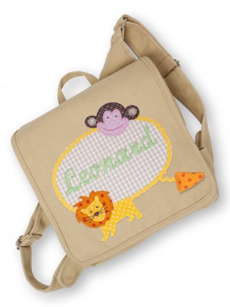 "crepes suzette - Kindergartentasche ""Zootiere"" sand"