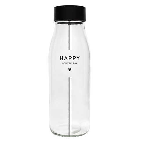 """Bastion Collections - Karaffe / Glasflasche """"HAPPY BEAUTIFUL DAY"""""""