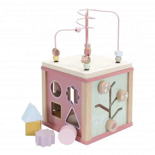 """Little Dutch - Holz Aktivitäten-Würfel """"Wild Flowers Pink"""""""