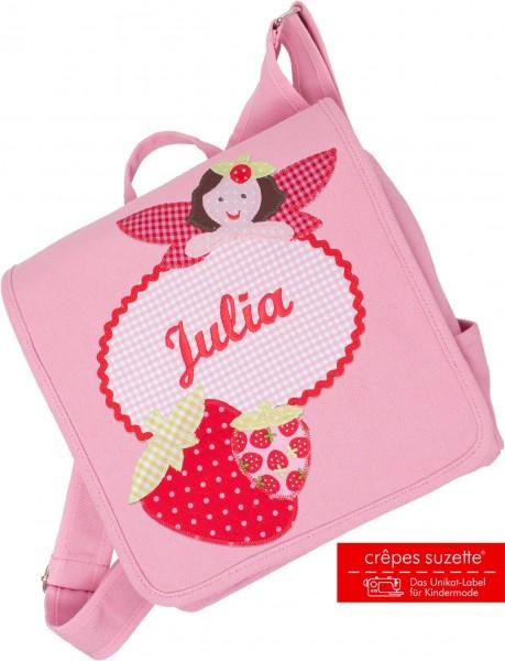 """crepes suzette - Kindergartentasche """"Erdbeermädchen"""" rosa"""