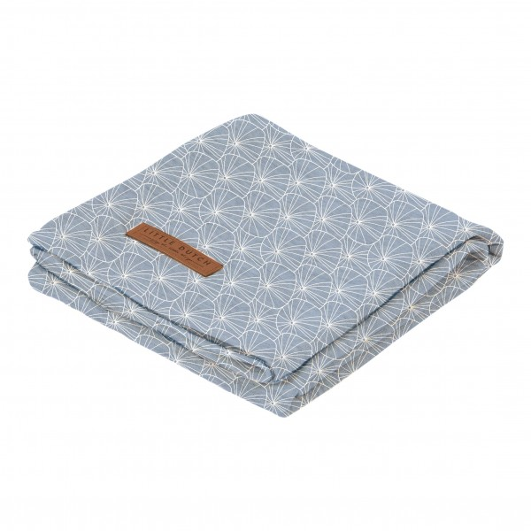 "Little Duch - Swaddle Tuch ""Lily Leaves Blue"" 120 x 120 cm"