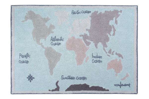 """Lorena Canals - Kinderzimmerteppich """"Vintage Maps"""""""