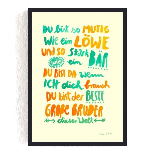 """Poster A4 """"Großer Bruder"""""""