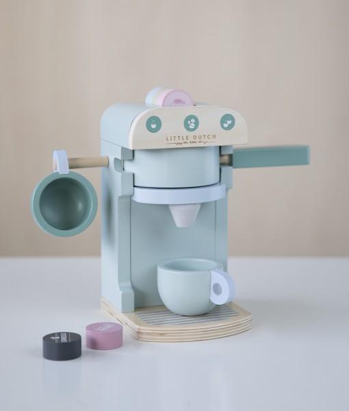 """Little Dutch - Kaffeemaschine Holz - 10-teilig """"mint"""""""