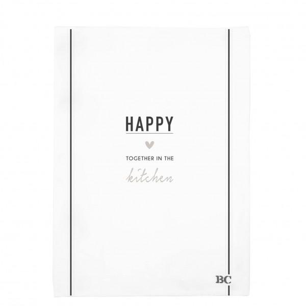 "Bastion Collections - Geschirrtuch ""HAPPY"""