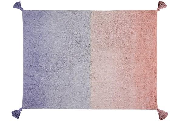 Teppich waschbar Coralle /Flieder