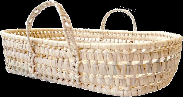 kikadu - Puppen Wickelkorb Palmblatt