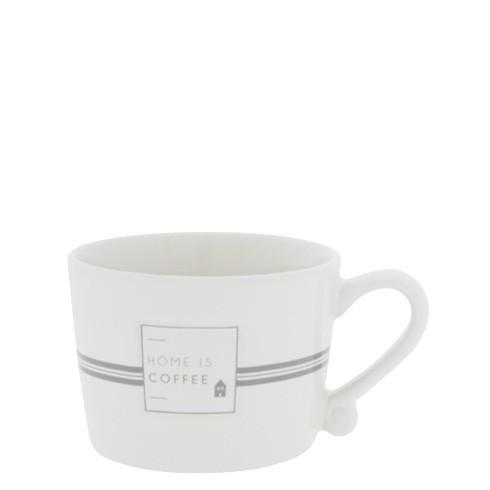 "Bastion Collections - Tasse klein ""Home is coffee"" - weiß/grau"