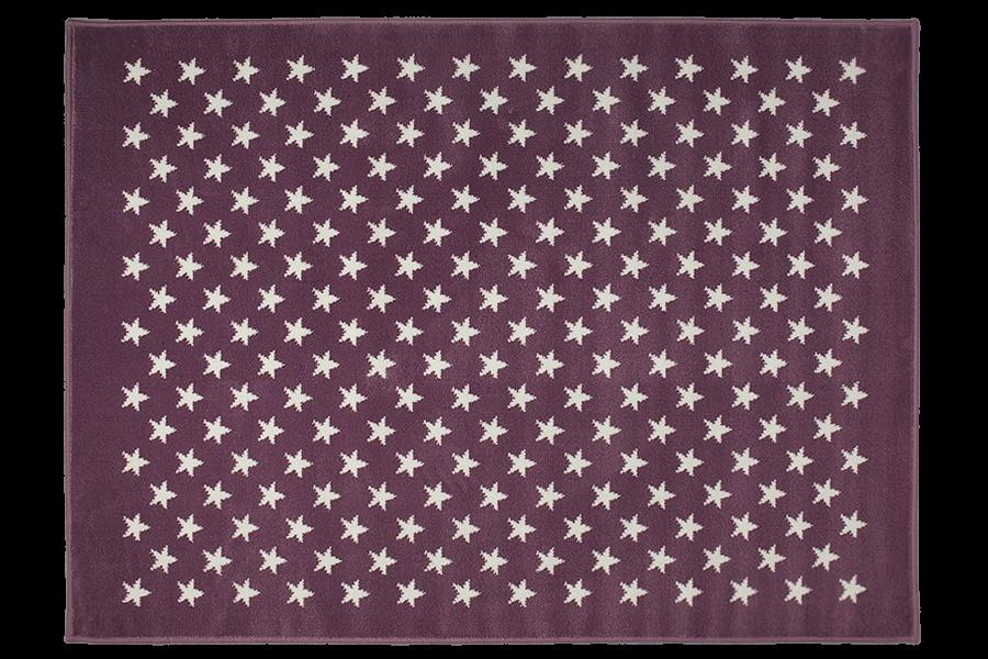 Kinderteppich sterne lila  Kinderzimmer Teppich in Lila flachflorig von Lorena Canals online ...