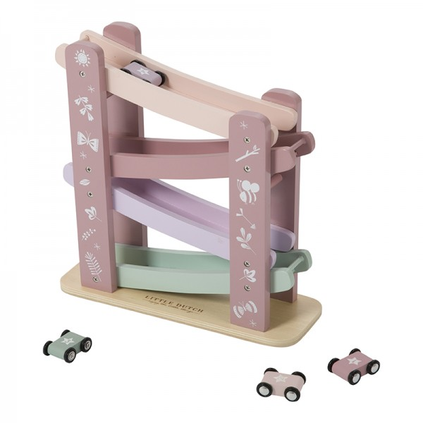 Little Dutch - Holz Rennbahn - Adventure Pink