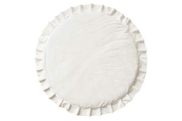 WigiWama - Spielmatte rund - Velvet Collection - Weiß