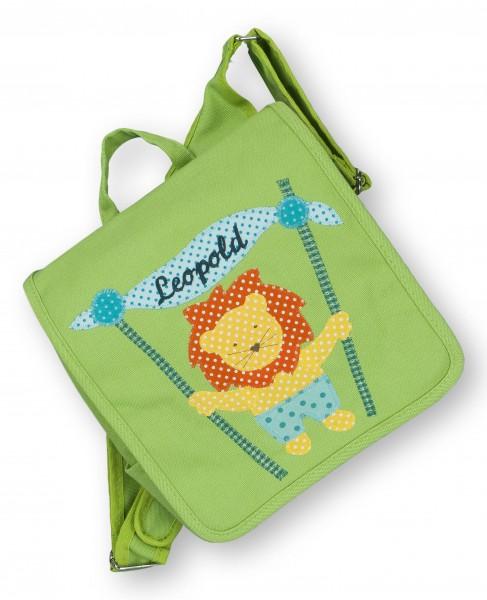 """crepes suzette - Kindergartentasche """"Löwe"""" grün"""