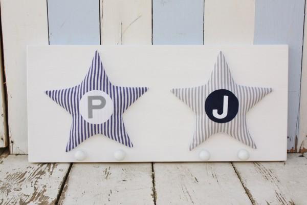 Garderobe Zwei Motive Stern
