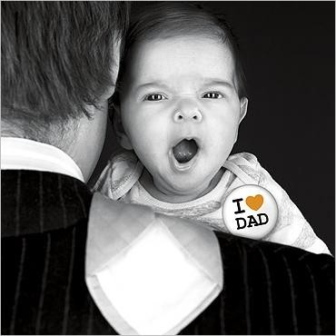 Postkarte I Love Dad