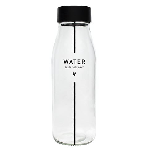 """Bastion Collections - Karaffe / Glasflasche """"WATER - filled with love"""""""