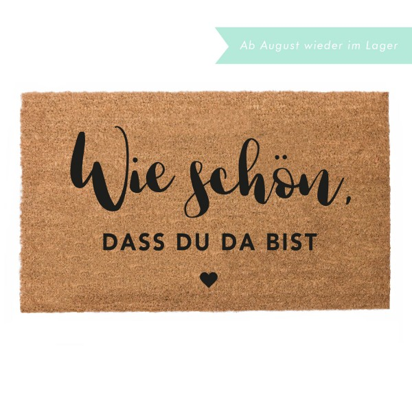 "Eulenschnitt - Fussmatte ""Wie schön"""