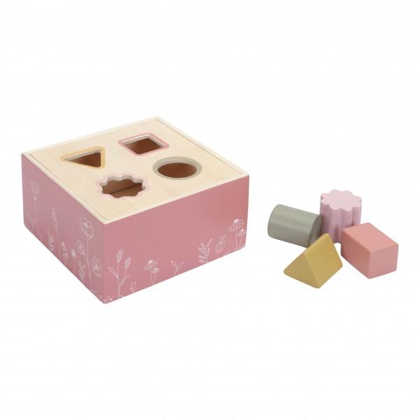 """Little Dutch - Holz Formen-Steckspiel """"Wild Flowers"""" pink"""