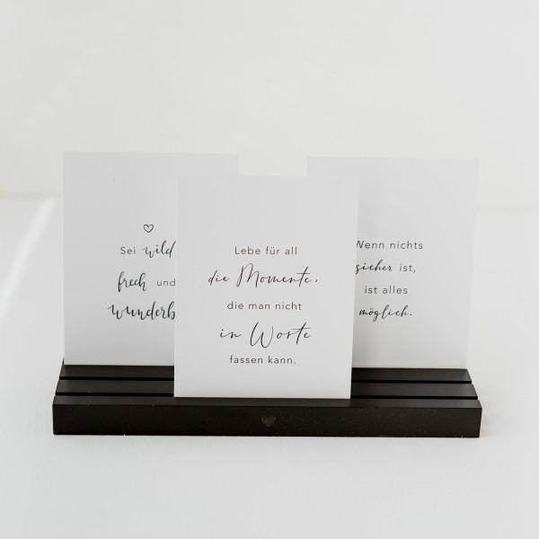 """Eulenschnitt - Foto - und Postkartenhalter """"schwarz"""" - 25cm"""