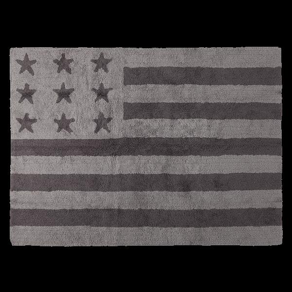 Kinderzimmerteppich Sterne/ Flagge Grau