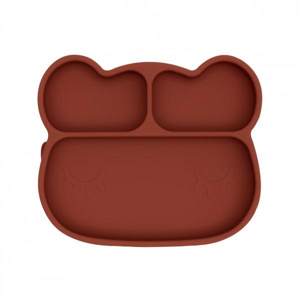 """We Might Be Tiny - Stickie Plate - Teller """"Bär"""" - rostbraun"""