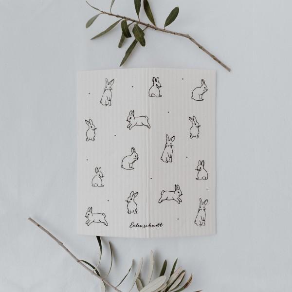 Eulenschnitt - Schwammtücher 3er-Set - Kaninchen