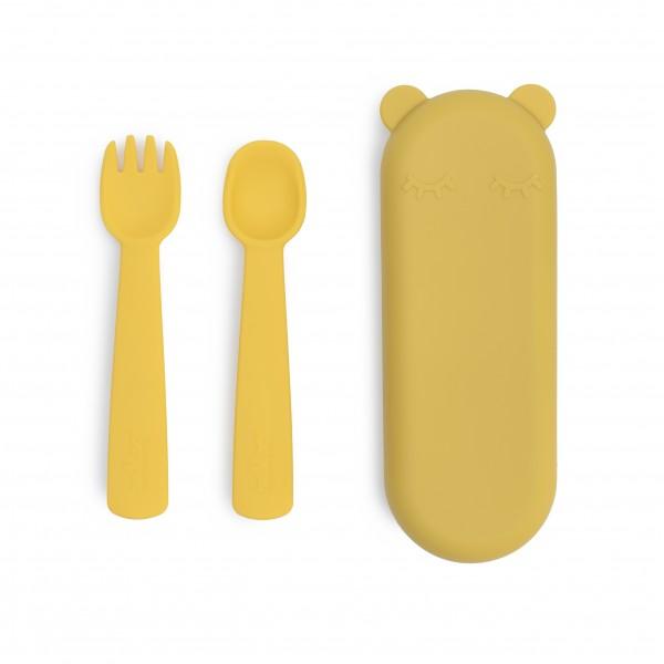 """We Might Be Tiny - Besteck-Set """"Feedie Fork & Spoon"""" gelb"""