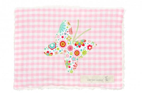 Lottas Lable - Wärmekissen Rosa mit Schmetterling