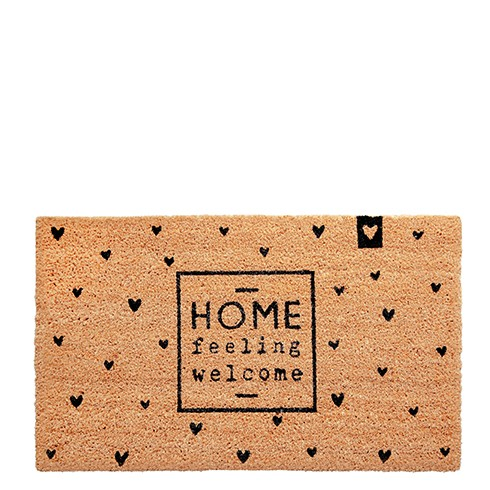 """Bastion Collections - Fußmatte """"HOME - feeling welcome"""""""