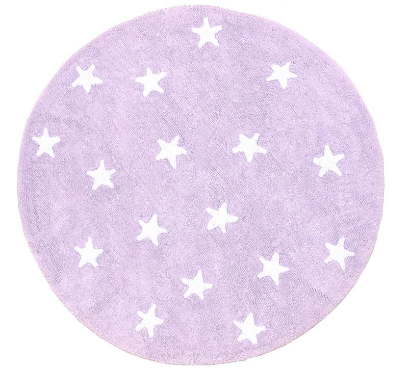 Kinderteppich sterne lila  Kinderzimmerteppich Rund Lila | Meine kleine Liebe