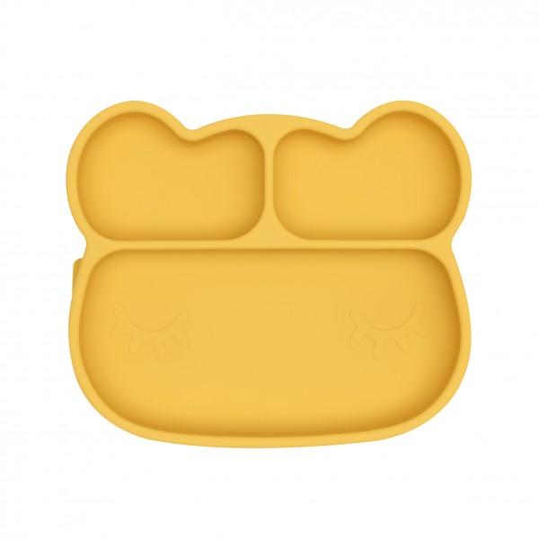 """We Might Be Tiny - Stickie Plate - Teller """"Bär"""" - gelb"""