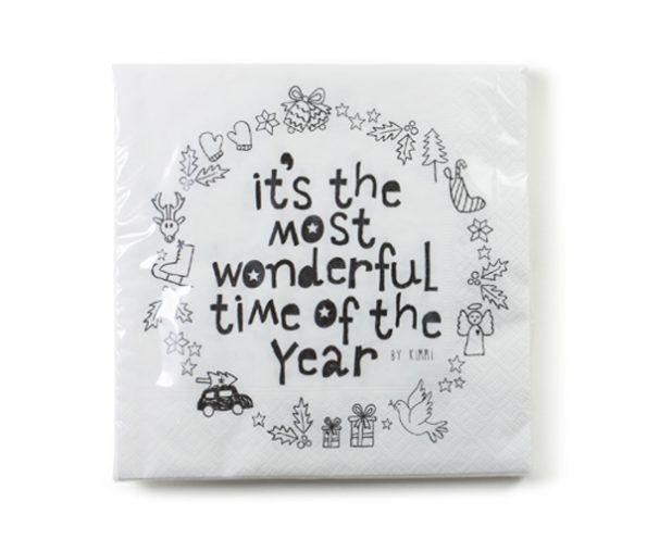 "Rustik Lys - Servietten ""It's the most wonderful time"""