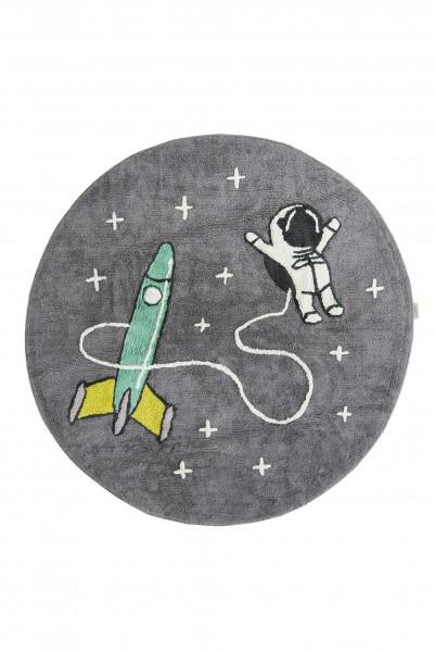 """minividuals - Teppich rund """"Astronaut mit Rakete"""""""